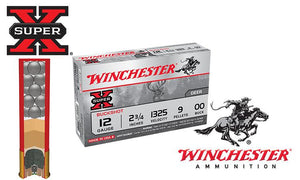 "<b>(Store Pickup Only)</b><br> 12 Gauge - Winchester Super X Buckshot, 2-3/4"" 00-Buck, Box of 5 #XB1200"