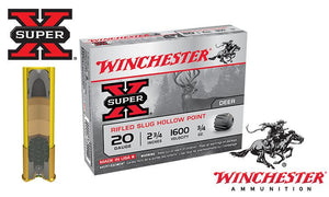 <b>(Store Pickup Only)</b><br> 20 Gauge, Winchester Super X Rifled Slugs, Hollow Point, Box of 5 #X20RSM5