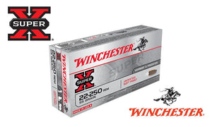 (Store Pickup Only)<br>Winchester Super X, 22-250 Rem, Jacketed Soft Point, 55 Grain Box of 20 #X222501