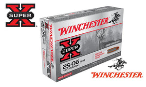 <b>(Store Pickup Only)</b><br>Winchester Super X, 25-06 Springfield, 120 Grain Box of 20 #X25062