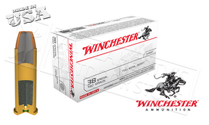 Winchester .38 Special FMJ, 130 Grain Box of 50 #Q4171