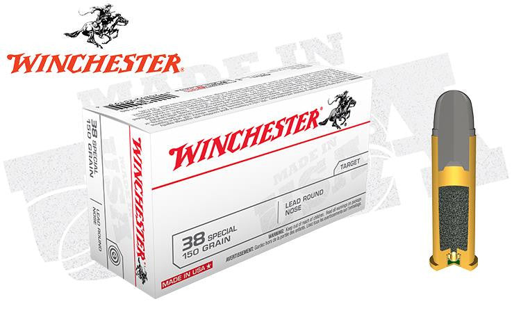 <b>(Store Pickup Only)</b><br> Winchester .38 Special Lead Round Nose, 150 Grain, Box of 50 #USA4196