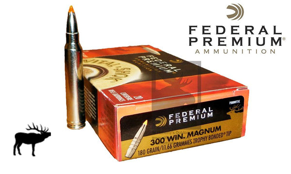 (Store Pickup Only) Federal Premium Vital-Shok, 300 Win. Mag. Trophy Bonded Tip, 180 Grain Box of 20 #P300WTT1C