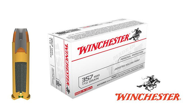 Winchester .357 Magnum JHP, 110 Grain, Box of 50 #Q4204