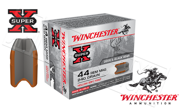 (Store Pickup Only) Winchester Super X 44 Rem Mag, 240 Grain, Box of 20 #X44MHSP2