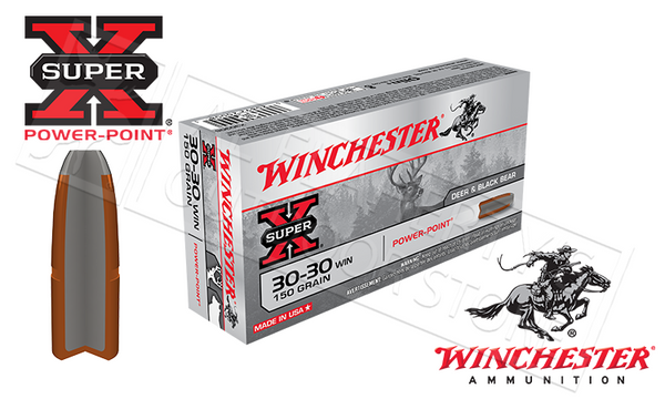 Winchester 30-30 WIN Super X, Power Point 150 Grain Box of 20 #X30306
