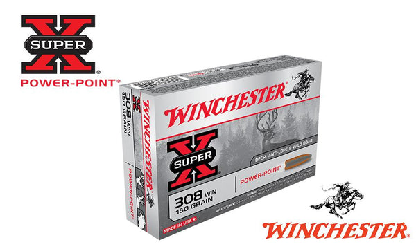 Winchester Super X, 308 Win, Power Point, 150 Grain Box of 20 #X3085