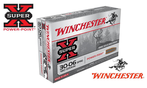 Winchester Super X, 30-06 Springfield Power Point, 180 Grain Box of 20 #X30064