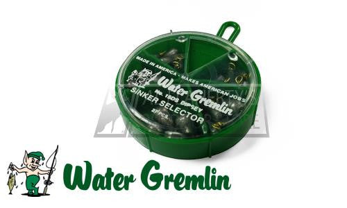 Water Gremlin Dipsey Swivel Sinker Selector, Sizes 10 to 6, 27 Pieces #15DS