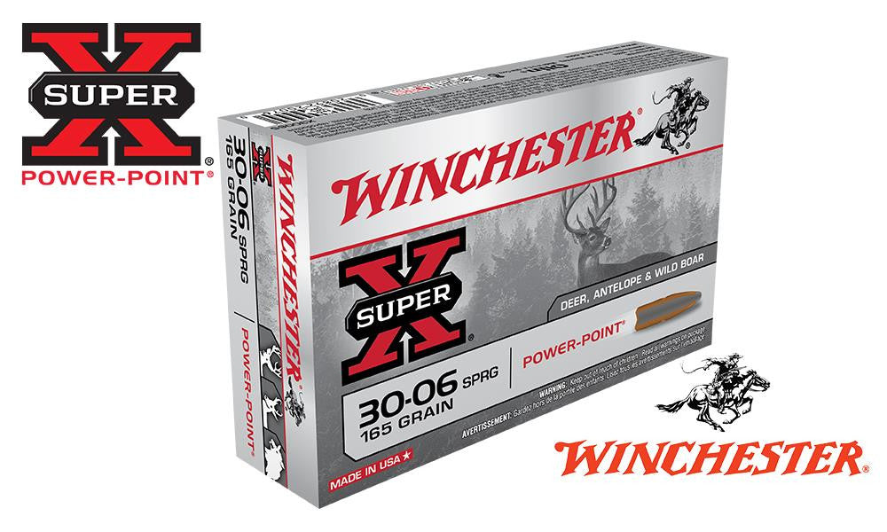 Winchester Super X, 30-06 Springfield Power Point, 165 Grain Box of 20 #X30065