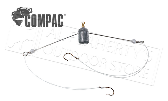Compac Straight Arm Spreader Jig, 2 Hooks #2SS