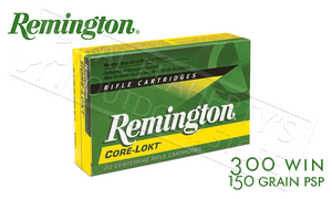 Remington 300 WIN Core-Lokt, Pointed Soft Point 180 Grain Box of 20 #R300W2