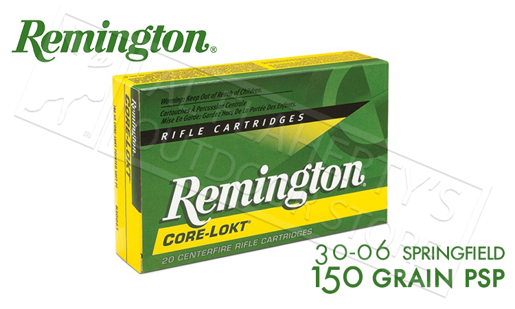 Remington 30-06 SPRG Core-Lokt, Pointed Soft Point 150 Grain Box of 20 #R30062