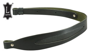 Levy's Leathers Leather Cobra Rifle Sling with Oval Leather Inlay, Black #SN22L-BLK
