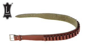 "Levy's Leathers Shell Belt, 12 Gauge, Large - 42"", Walnut #EX47-12-L-WAL"