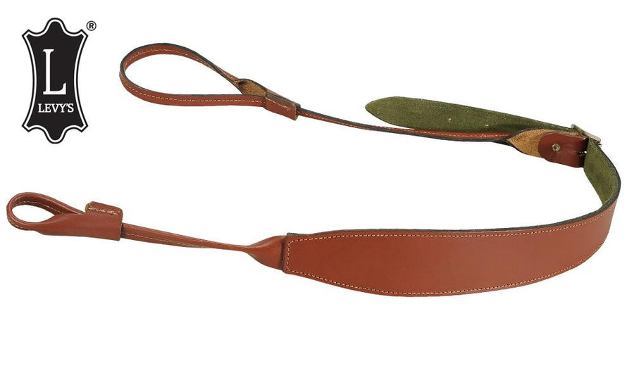 "Levy's Leathers Shotgun Loop Sling, 40"" - 45"" Walnut #SN95-WAL"