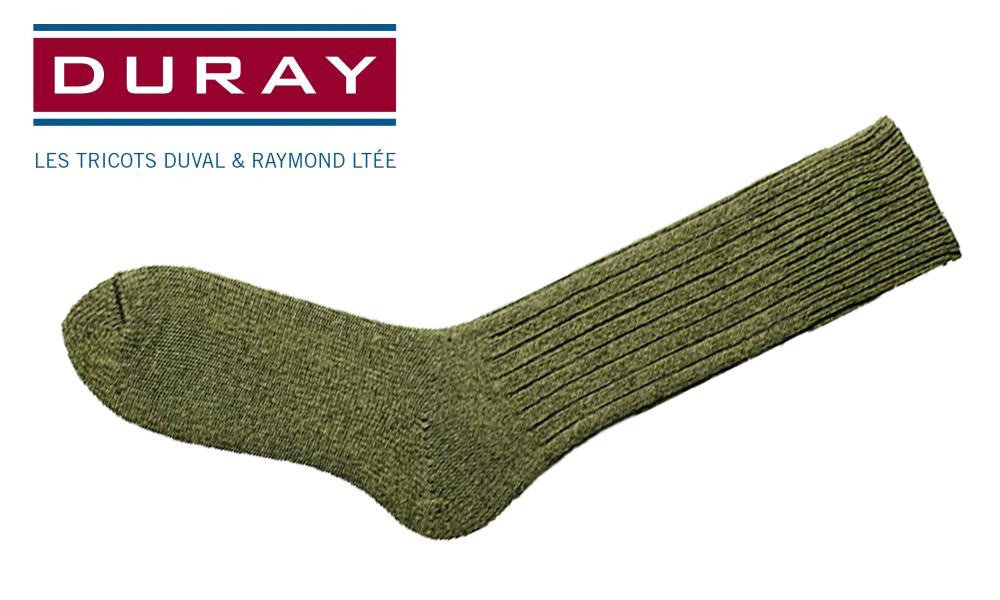 Duray Army Work Sock, Green, Size 11 #4311