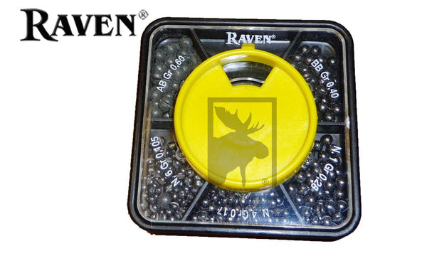 Raven Split Shot Dispenser, 5-Part, AB to #6 Size #RV5PSD