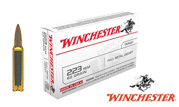 <b>(Store Pickup Only)</b><br>Winchester .223 Box of 20, 62 grain FMJ #USA223R3
