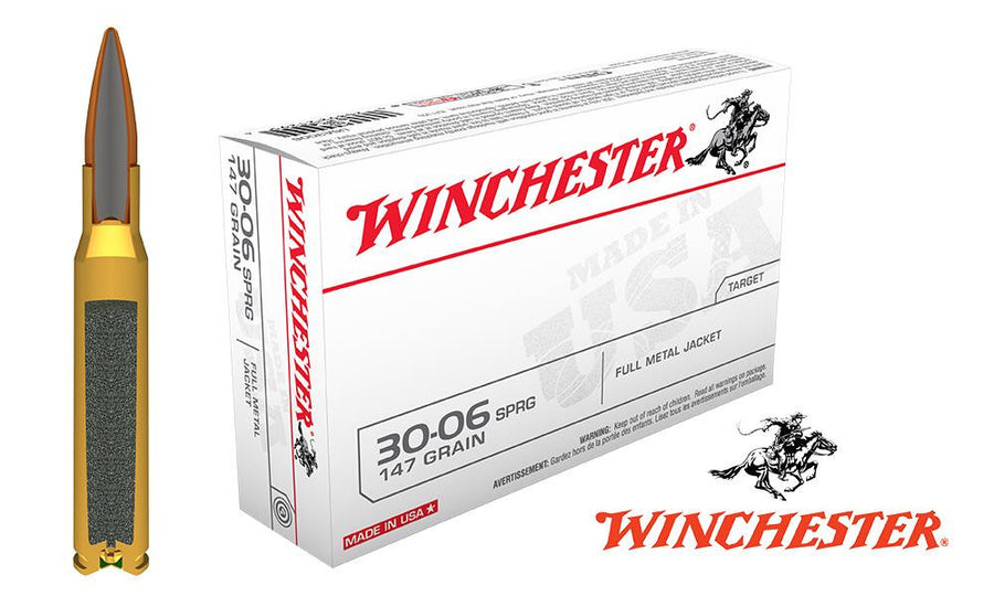 <B>(Store Pickup Only)</b><BR>Winchester .30-06 Box of 20, 147 Grain FMJ