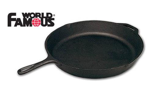 World Famous Cast Iron Outfitter Frying Pan, 15.5""
