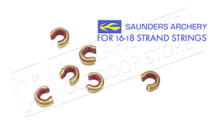 Saunders Archery Nok Set for 16-18 Strand Strings, 6-Pack #3001