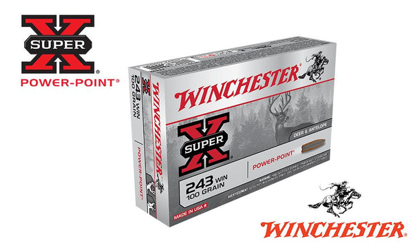 <b>(Store Pickup Only)</b><br>Winchester Super X, 243 Win, Power Point, 100 Grain Box of 20 #X2432