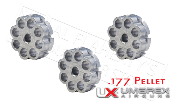 Umarex Magazine for Rotary Magazine Pistols, 8-Shot .177 Pellet Pack of 3 #2252500