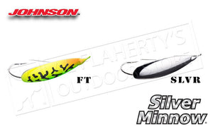 Johnson Silver Minnow Weedless Spoon, Firetiger SM3/4-FT