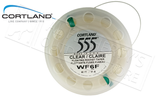 Cortland 555 Fly Line, Floating Rocket Taper #6 - Clear, 90ft #41747
