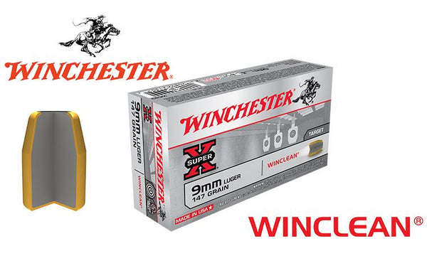 Winchester Winclean 9mm 147 Grain TFMJ #WC93