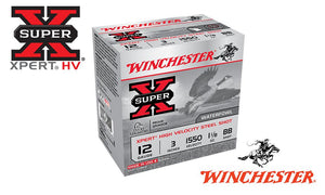 "<b>(Store Pickup Only)</B><br> 12 Gauge, Winchester Super X Xpert High Velocity Waterfowl Shells, 3"" #BB Shot, 1-1/8 oz., 1550 FPS, Box of 25 #WEX123BB"