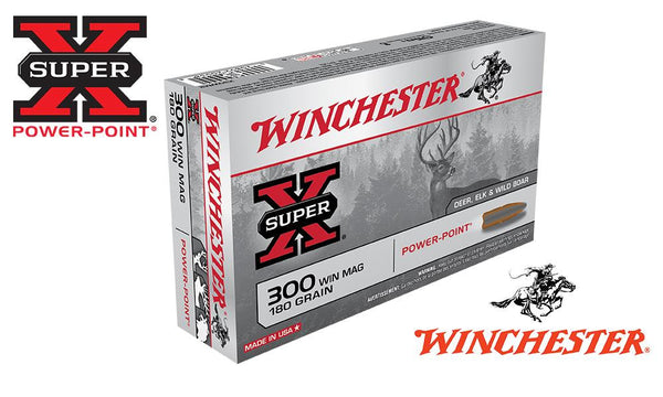 Winchester Super X, .300 Win Mag Power Point, 180 Grain Box of 20 #X300WM2