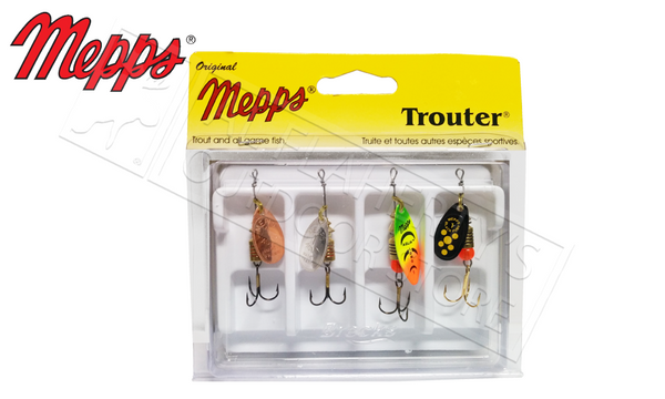 Mepps Kit - Trouter 4-Pack, Unressed #4-K1