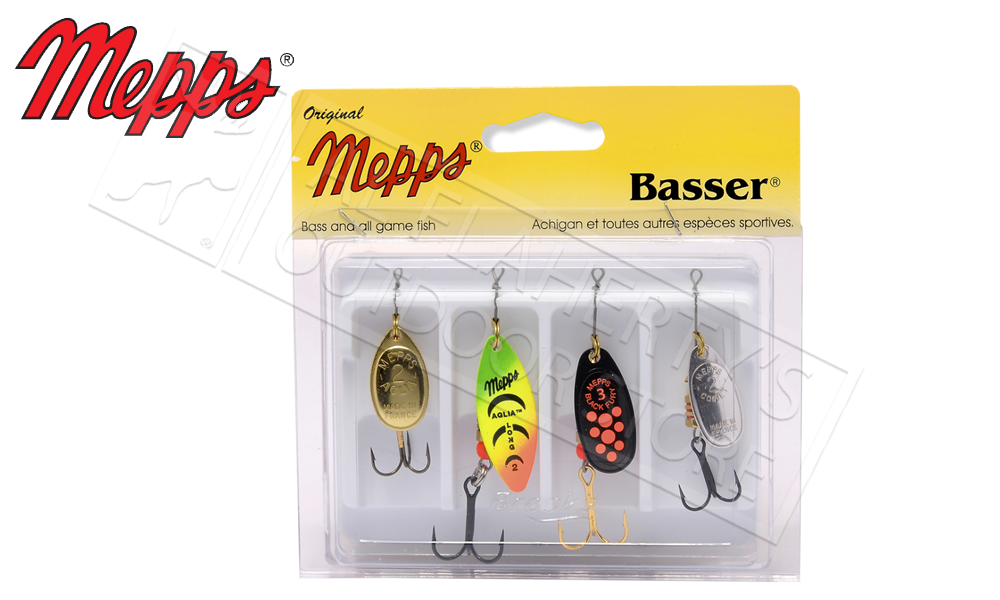 Mepps Kit - Basser 4-Pack, Undressed #4-K2