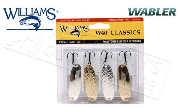 "Williams Trophy Takers Classic Wabler Kit, Size W40, 2-14"" 1/4 oz #4-40"