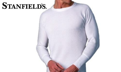 Stanfield's Thermal Top, Waffle Knit, White #6622 010