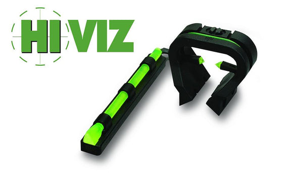 HiViz Shotgun TriViz Shotgun Front and Rear Fiber Optic Sight Set for Vent Rib Shotguns #TT1001