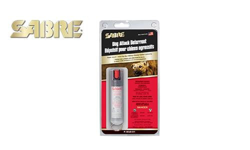 Sabre Dog Attack Deterrent Pepper Spray, 22G Pressurized Can with Belt Clip #P-SDAD-01
