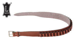 "Levy's Leathers Shell Belt, 12 Gauge, Medium - 37"", Walnut #EX47C-12-M-WAL"