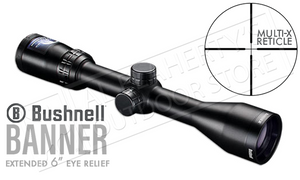 "Bushnell Banner Scope 3-9x40mm, Extended 6"" Eye Relief with Multi-X Reticle #613947"