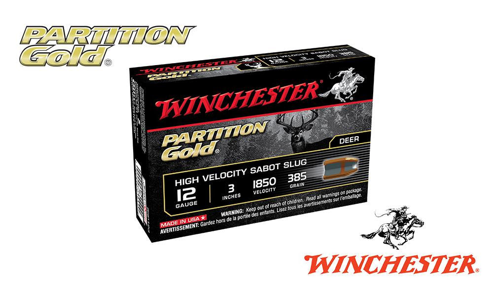 "<b>(Store Pickup Only)</b><br>12 Gauge, Winchester Partition Gold Sabot Slugs, 3"", 385 Grain, 1850 fps, Box of 5 #SSP123"