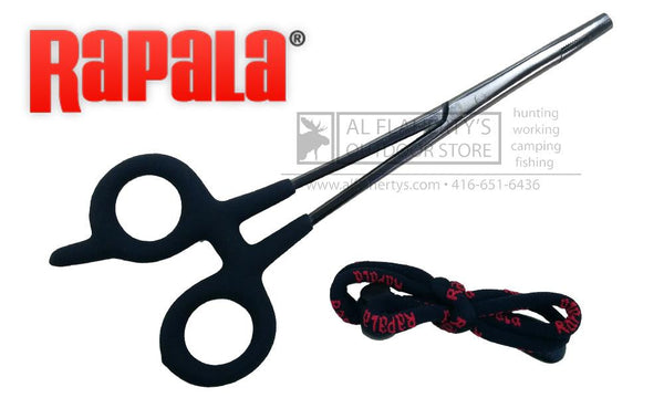 "Rapala Fishing Forceps, 7-1/2"" Stainless Steel with Lanyard #RFCP-7"