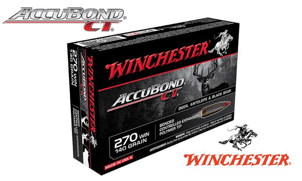 Winchester 270 WIN  Accubond CT, Polymer Tipped 140 Grain Box of 20 #S270CT