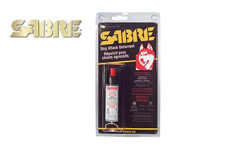 Sabre Dog Attack Deterrent Pepper Spray, 22G Pressurized Can with Keychain Loop #P-SDAD-02