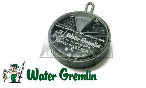 Water Gremlin Split Shot Sinker Selector, Sizes BB to 4, 124 Pieces #711R