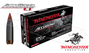 Winchester 270 WSM Accubond CT, Polymer Tipped 140 Grain Box of 20 #S270WSMCT