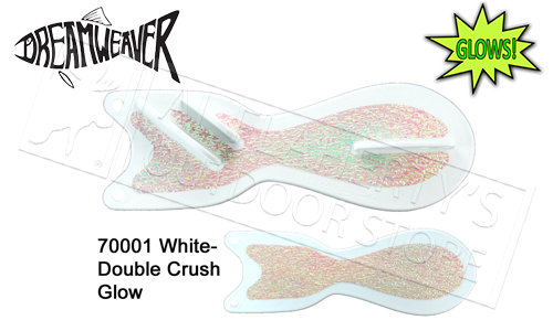 "Dreamweaver Spin Doctor, 8"" White & Double Crush Glow Pattern #SD70001-8"
