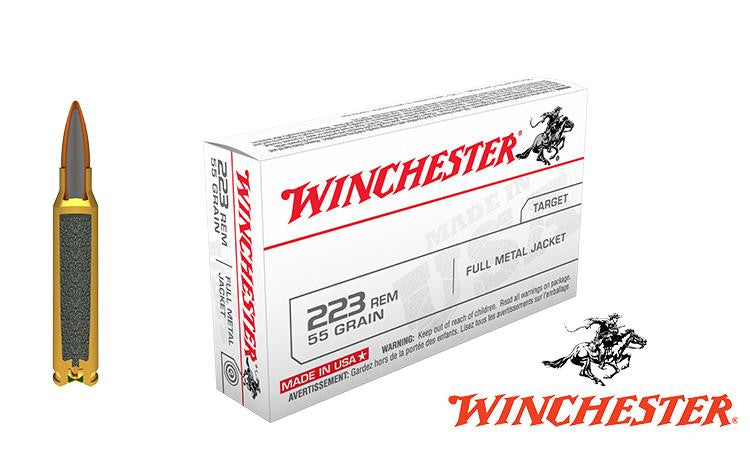 <b>(Store Pickup Only)</b><br>Winchester .223 Box of 20, 55 grain FMJ #USA223R1