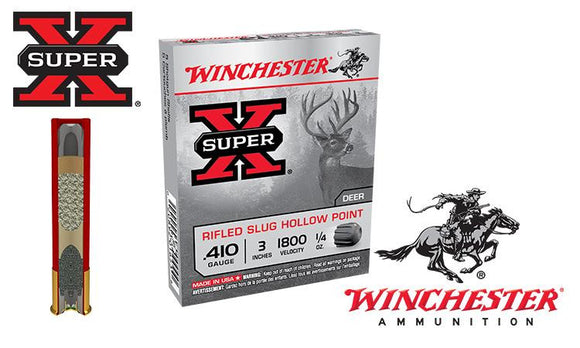 "<b>(Store Pickup Only)</b><br> .410 Gauge - Winchester Super X Rifled Slugs, Hollow Point, 3"" Box of 5 #X413RS5"